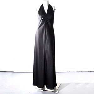 Laundry black halter neck evening dress size 6